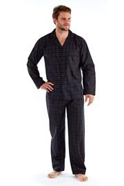 Harvey Black Check Long férfi pizsama