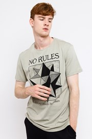 MF No Rules Beige férfi póló