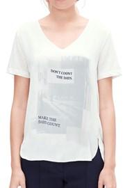 V1 s.Oliver női póló nyomott mintával