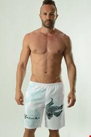 GERONIMO Cyprinus férfi short szabású fürdőnadrág fehér