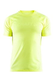 CRAFT Run Prime funkcionális férfi póló neon sárga