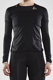 CRAFT Run Shade LS póló, fekete