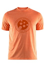 CRAFT Melange Graphic funkcionális férfi póló narancs