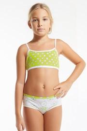 Flower Green lányka szett, lányka alsó és top