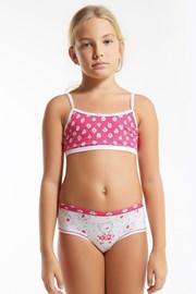 Flower Pink szett, lányka alsó és top