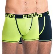 BELLINDA BMEN férfi boxeralsó zöld-fekete 2 db-os csomagolás