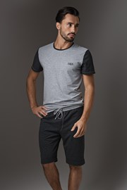 LISCA Thor Dark Grey Short férfi pizsama