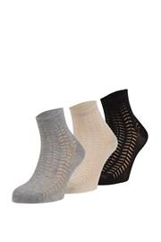 Luisa mintás zokni, 3 pár 1 csomagban