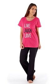 Laugh Pink - női pamut pizsama