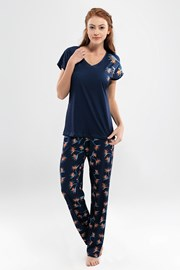 Valeria női pizsama, hosszú