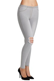 Carlita női leggings, farmer designban