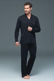 BLACKSPADE Lion Black férfi pizsama, modálból