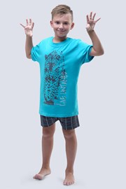 Live Untamed türkizkék fiú pizsama