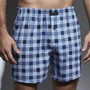CORNETTE Comfort Blue Check férfi alsónadrág