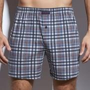 CORNETTE Comfort férfi alsónadrág kockás mintás kék-fehér