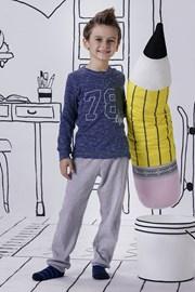 Jacqard fiú pizsama