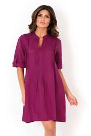 Olasz nyári lenes női ruha David Beachwear Fuksia 05