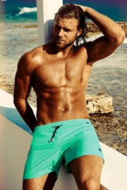 DAVID 52 Edgar Aquamarine férfi úszóshort
