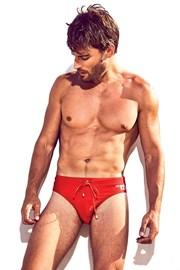 DAVID 52 Basic Slip Red férfi úszónadrág