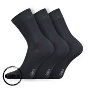 Debob bambusz szálas zokni, sötét szürke, 3 pár 1 csomagban