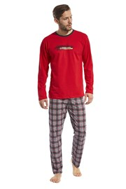 Display férfi pizsama - piros