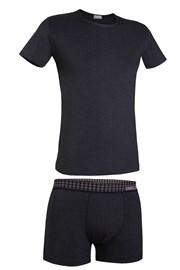Enrico Coveri 1625B férfi szett - póló és boxeralsó