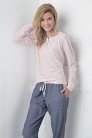 Alice női pizsama, rózsaszín-kék
