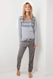 Stars női pizsama, szürke