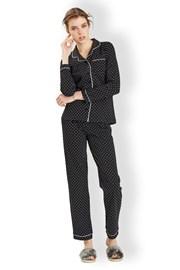 Hearts black - olasz női pizsama