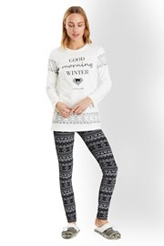 Good morning winter - olasz női pizsama