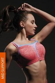 Flow Pink sportmelltartó, merevítőkkel
