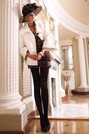 Glamour Soft Black elegáns harisnyanadrág