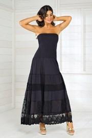 Iconique IC8016 Black olasz nyári női ruha