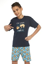 I am lazy fiú pizsama