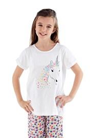 Polly lányka pizsama, hosszú, fehér
