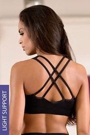 LORIN Black női sport top