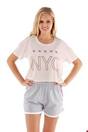 NYC női pizsama, rózsaszín