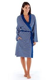 Stripes női köntös, kék