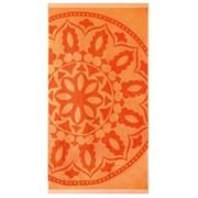 Mandala strand fürdőlepedő, narancssárga