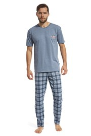 Mountain kék férfi pizsama