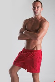 GERONIMO short szabású férfi fürdőnadrág piros
