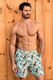 SHORTS Co. Papagaio LONG férfi fürdőshort