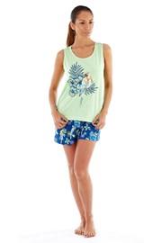 Parrot - pamut női pizsama, rövidnadrággal