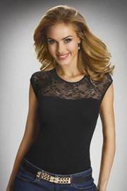 Paulina női elegáns csipke póló