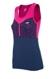 4f Pink női sportpóló ujjatlan
