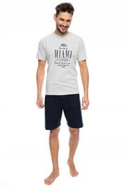 RÖSSLI Miami férfi pizsama, szürke
