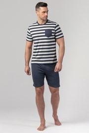 RÖSSLI Navy Stripes férfi pizsama