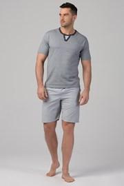 RÖSSLI Stripes Grey férfi pizsama