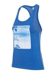 4f Oceans Blue női ujjatlan póló