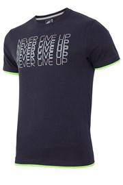 4F Never Give Up férfi póló, 100% pamut